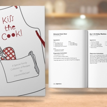 Kiss the Cook Book Design